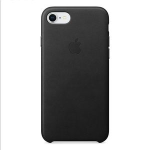 iPhone 8 apple leather case - Black